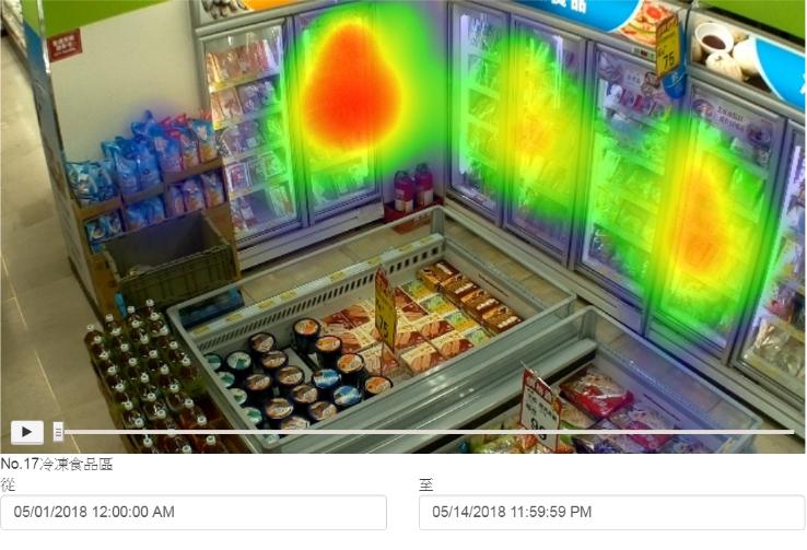 透過熱區分析功能得知特定商品和區域的人流熱度