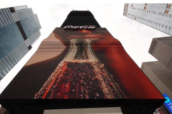美國時代廣場大型LED顯示看板-可口可樂